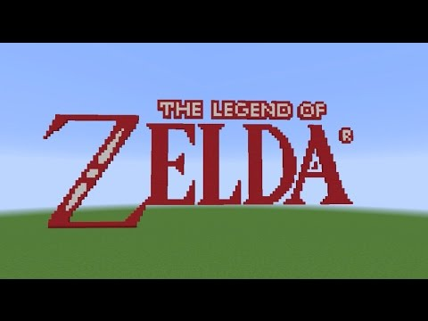 The Legend Of Zelda Logo Pixel Art Created In Minecraft