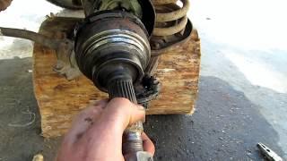 Как быстро снять внешний шрус без съемника нива (ваз-2121).Самоделки для авто.