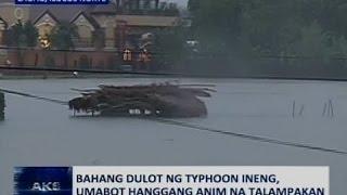 Saksi: Hagupit ng bagyong Ineng, dama sa Ilocos Region