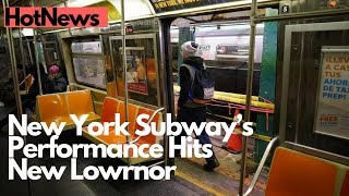 New York Subway's On Time Performance Hits New Low