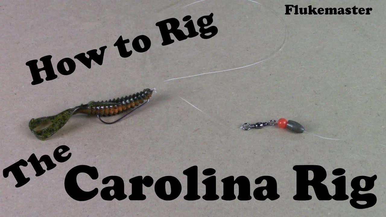 How to tie a carolina rig bass fishing fishing for Bass fishing rig