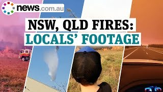 Australia NSW, QLD fires: sobering footage from the ground