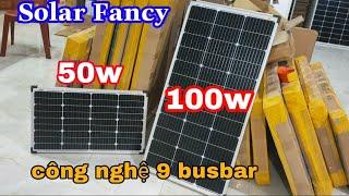 Chi tiết tấm pin 50w và 100w công nghệ 9bb mới nhất của Solar Fancy