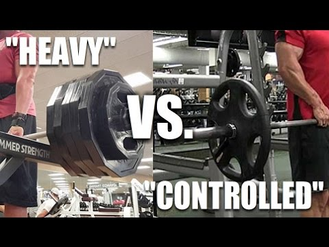 """Heavy """"Ego Lifting"""" Vs. Slow/Controlled: Which Is Better?"""