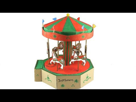 How to make an Amazing Merry Go Round from Cardboard - Just5mins