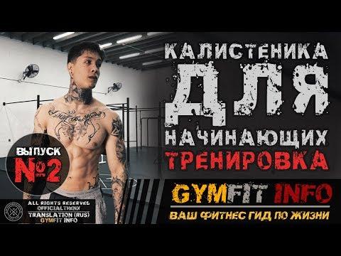 КРИС ХЕРИА. Калистеника для НАЧИНАЮЩИХ. Тренировка с СОБСТВЕННЫМ ВЕСОМ (воркаут) | RUS, #GymFit INFO