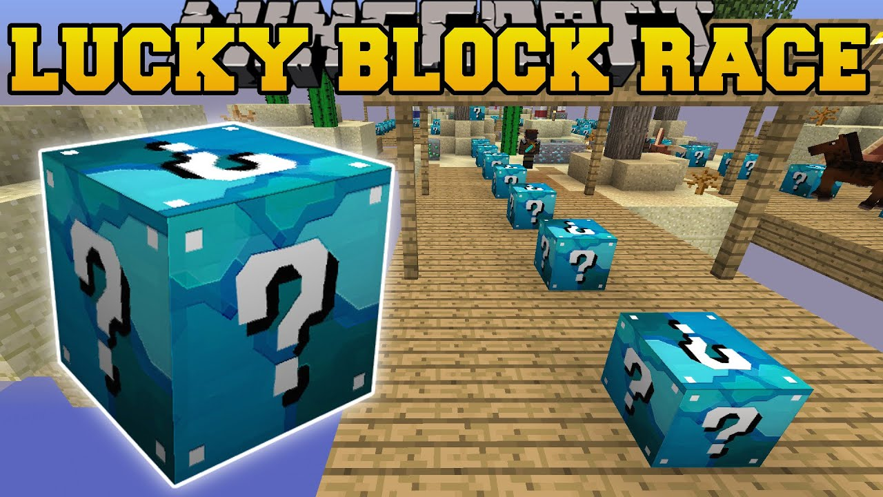 Minecraft: DIAMOND MINE LUCKY BLOCK RACE - Lucky Block Mod ...