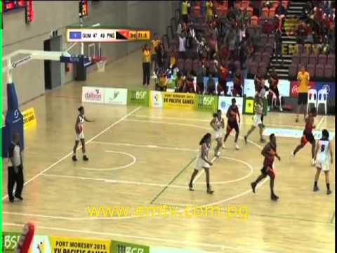 PNG vs Guam | Women's Basketball - PNG2015 Pacific Games Day #4