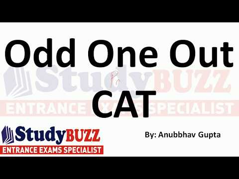 Verbal practice for CAT- Parajumbles & Odd one out
