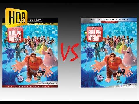 ▶ Comparison Of Ralph Breaks The Internet 4K HDR10 (2K DI) Vs Regular Blu-Ray Edition