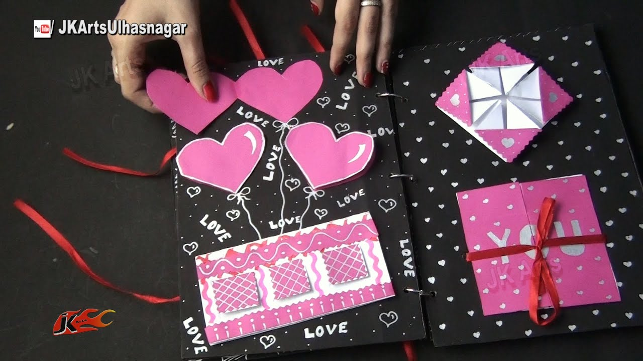Scrapbook idea jk craft ideas youtube
