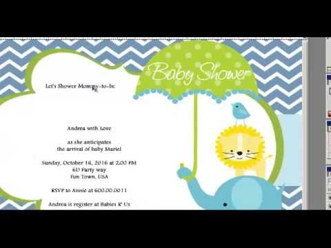 How To Make A Baby Shower Invitations Card For Girls And Boys Youtube