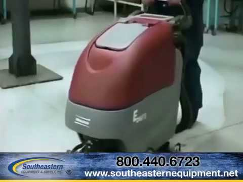 features of minuteman e26 eco automatic floor scrubber - youtube