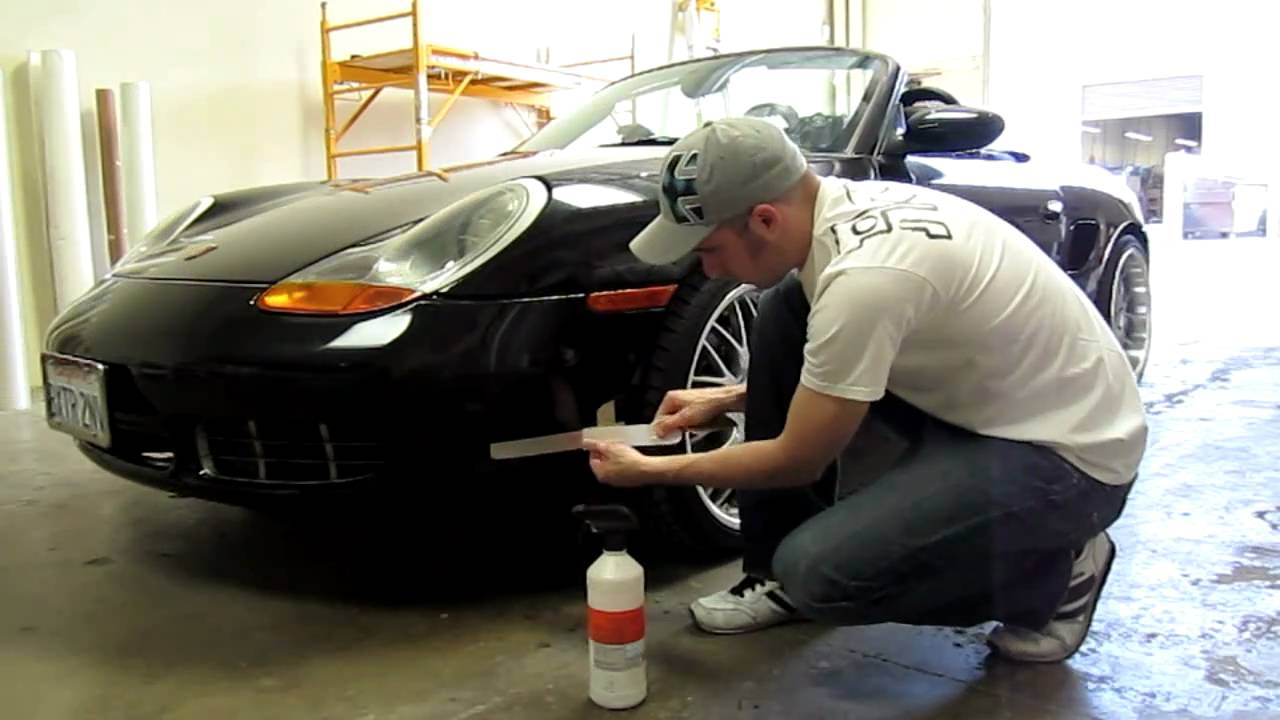 986 Porsche Boxster S Checker Side Stripes And Windshield