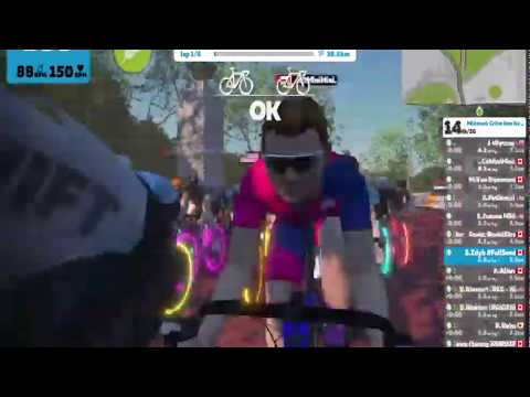 🥇 Zwift bicycle Race Toronto Midweek winter bike racing   Cheats