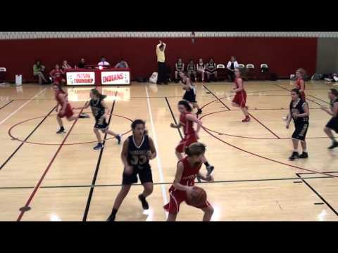 2 18 2016 Peters Township Middle School 7th Grade Girls vs Ringgold   Third Quarter