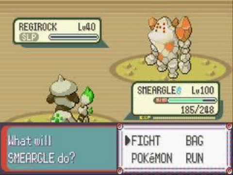 Pokemon Emerald - Capturing Regirock
