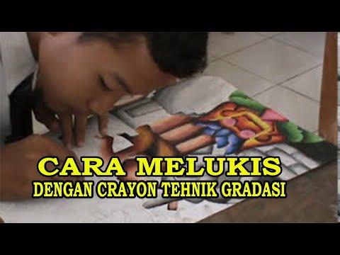 Cara melukis dengan crayon