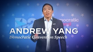 Andrew Yang speech at the Democratic Convention | Joe Biden For President 2020