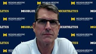 Jim Harbaugh Talks Pausing In-Person Team Activities - Maryland Week - Michigan Wolverines Football