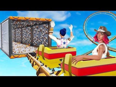 Survive HAPPY DEATH LAND Theme Park! - (Fortnite Creative)