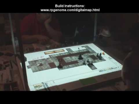 "Digital Map Projection ""Cube"" for Tabletop Role Playing Games"
