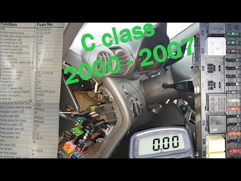 05 mercedes w203 fuse diagram mercedes w203 all fuses and relays location how to test them  mercedes w203 all fuses and relays