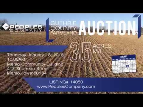 35 Acres m/l Guthrie County, IA Farmland Auction