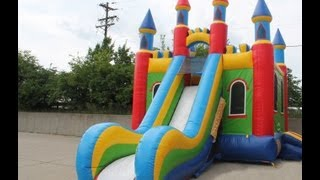 Castle Slide Combo Inflatable Bounce House Moonwalk Jumper Dayton Cincinnati Rental