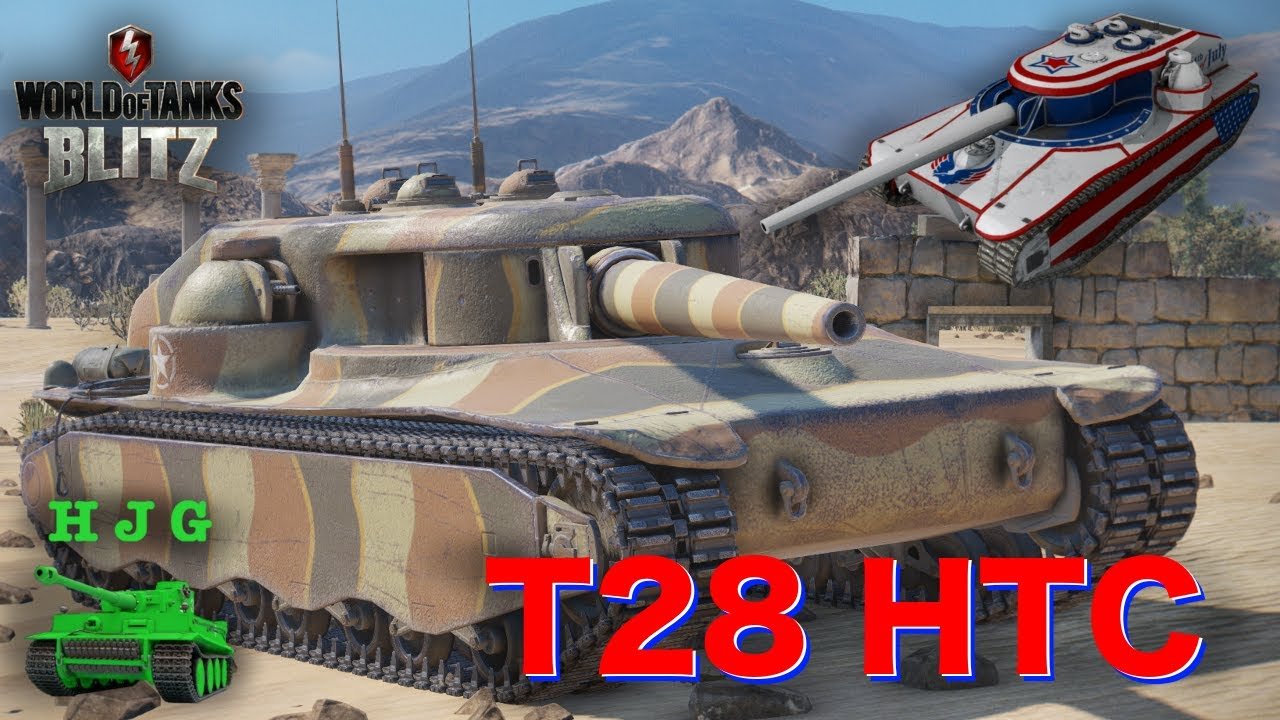 World of Tanks BLITZ - T28 HTC - Just The Facts! - YouTube