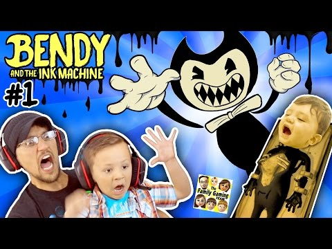 EVIL MICKEY MOUSE?? BENDY & THE INK MACHINE: Chapter 1 😱 FGTEEV 2 Scary Kids Gameplay Jump Scares