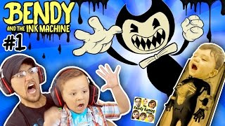EVIL MICKEY MOUSE!??! BENDY & THE INK MACHINE: Chapter 1 😱 FGTEEV 2 Scary Kids Gameplay Jump Scares Mp3