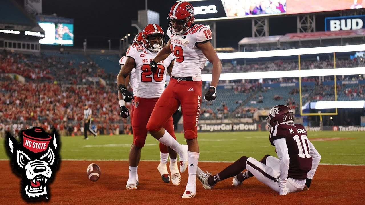 NC State WR C J  Riley Makes An Amazing Diving 1-Handed TD Catch