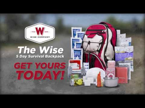 688998cafe55 Wise Company - 5 Day Survival Backpack