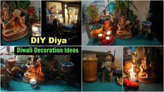 5 Easy DIY Diya Ideas | Budget Diwali Decoration in Hindi (with english subtitles) | Organizopedia