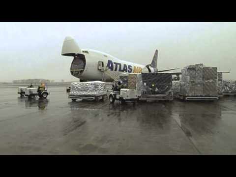 Time-Lapse: Panalpina 747 Air Cargo Loading - Huntsville to Brazil First Flight