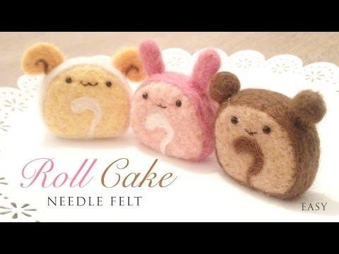 Kawaii Roll Cake - DIY Needle Felt Mascots
