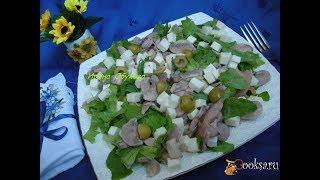 Салат из шампиньонов с оливками и брынзой Диетические блюда