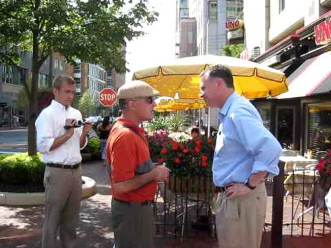 Creigh Deeds Campaigns in Reston on Aug. 30