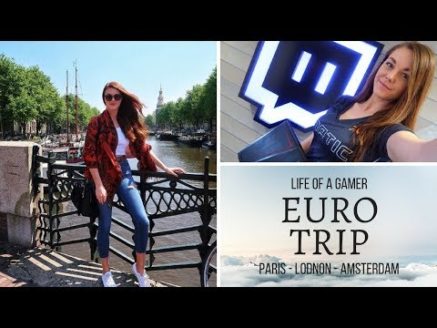 LIFE OF A GAMER | Euro Trip | Paris - London  - Amsterdam