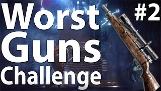 Black Ops 3 Zombies: WORST GUNS CHALLENGE (Part 2) - The Giant