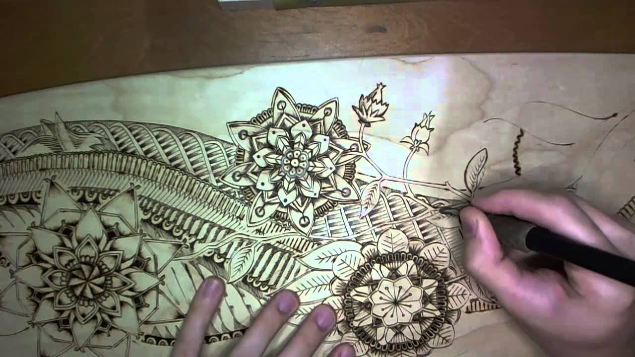 Longboard Pyrography Wood Burning Youtube