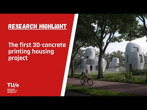World's first commercial 3D-concrete printing housing project