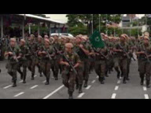Bolsonaro attends military ceremony in Brazil