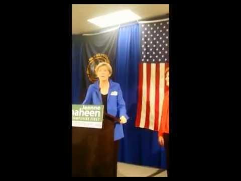 Senator Jeanne Shaheen GOTV Rally with Senator Elizabeth Warren Concord NH 10 25 2014 pt 4