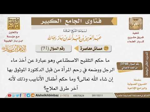 091 ما حكم التلقيح الاصطناعي وأطفال الأنابيب للإمام ابن باز Youtube