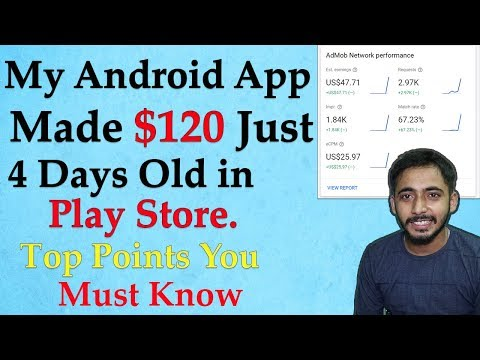My Android App Made $45 Only 4 Days Old In Play Store L Top 6 Major Point To Boost App L Hindi