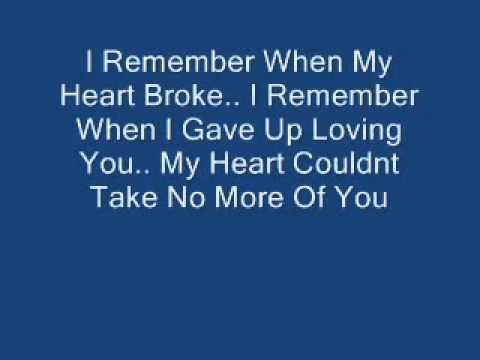 Keyshia Cole - I Remember With Lyrics