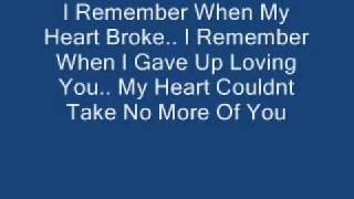 Keyshia Cole - I Remember With Lyrics