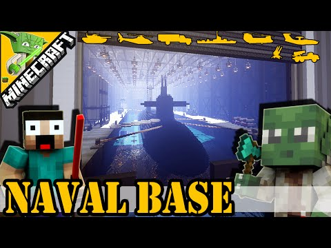 Minecraft Naval base | with Keralis + epic secret | Best Military Base 2015 |